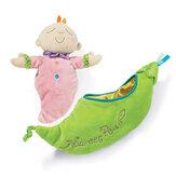Kids Pea Baby Plush Toy Children Snuggle Pod Sleeping Placate Doll