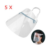 ZANLURE 5PCS Adjustable Transparent Anti Splash Dust-proof Protect Full Face Covering Safety Mask Visor Shield