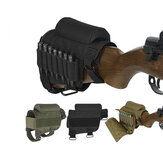 Tactical Buttstock Ammo Cartouches Titulaire Airsoft Hunting Bullet Carrier Holsters Pouch
