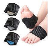 Almohadilla protectora del arco del pie Unisex Transpirable Absorbente de sudor Deportes Correr Reducir el estrés Vendas Cuidado de los pies