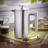 350ml Double Wall Stainless Steel Coffee Plunger French Press Chá Fabricante Handy Coffee Machine