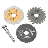 3Pcs HSS 54.8mm Wood Circular Saw Blades with Mandrel Rotary Cutting Tool