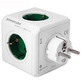 Allocacoc Dock di ricarica verde Original PowerCube presa di corrente Adattatore con spina europea 5 prese 16A 250V 3680W Power Cube
