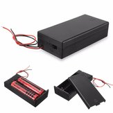Plastisk batteriholder Opbevaringsboks Sag Container ON / OFF switch til 2x18650 batterier 3,7V