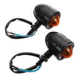 Motorcycle Black Chrome Bullet Turn Signal Indicators Lights For Harley Cafe Racer