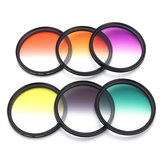 6Pcs/Set 58mm Graduated Color Filter Kit Camera Lens for Canon EOS 1100D 600D