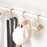 Obrotowy stojak do przechowywania wieszak na ubrania Plastikowy stojak na ubrania Kreatywny krawat wieszak Szafa wieszak na ubrania organizator