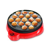 18 Löcher Electric Octopus Ball Grill Takoyaki Backformmaschine Mini Electric Chibi Maruko Grillpfanne