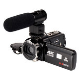 4K WiFi Ultra HD 1080P 16X ZOOM Kamera Video Digital DV Camcorder dengan Lensa dan Mikrofon