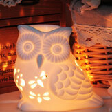 Brûleur à mazout en céramique Melt Wax Warmer Aroma Diffuser Tealight Candle Holder Hollow Owl