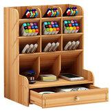 Aufbewahrungsregal für Stifthalter aus Holz mit mehrschichtigem und großvolumigem Briefpapier Kosmetik-Organizer Schmuck-Display-Box für Platzersparnis