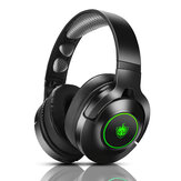 PHOINIKAS Q9 Gaming Headset 3.5mm Wired/Wireless bluetooth5.0 40mm Driver LED Light Over-ear Headphone with Mic for Computer PC PS3/4
