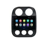 YUEHOO 10,1 дюймов Android 10,0 Авто стерео Радио мультимедийный плеер 2G / 4G + 32G GPS WI-FI 4G FM AM RDS Bluetooth для Jeep Compass 2010-2016