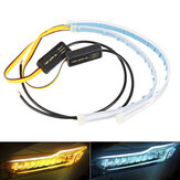 2PCS 30CM Waterproof LED Car DRL Daytime Running Lamp Strip Light Soft Tub