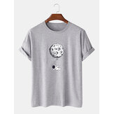 Funny Astronaut Print 100%Cotton Short Sleeve Loose T-Shirts