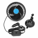 DC 12V/24V 6 Inch Air Cooling Fan Mini Rotatable Fan with Sucker Auto Vehicle Low Noise