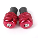 Four Red 22mm Motorcycle Round Handlebar End Weight Balance Plug