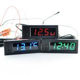 Hohe Präzision 3 IN 1 Auto Uhr Lichtthermometer Voltmeter Auto Temperatur Batterie Spannungsüberwachung Panel Meter DC 12 V Uhr