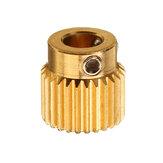 Roues d'extrusion en laiton TRONXY® à 26 dents, 5 mm, équipement d'alimentation pour pièce imprimante 3D