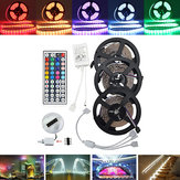 15M SMD5050 Non-Waterproof RGB 450 LED Strip Light Kit + 44 Keys Controller + Cable Connector DC12V