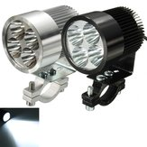 12W 6000K LED Luz do dia Spot Lightt for Motorcycle Scooter Car Truck Van