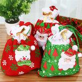 NoelHediyesiÇantaCandyChristmasGift Çantalar için Noel Süsleme Dekorasyonu Noel Baba