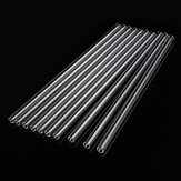 10Pcs 200mm OD 7mm 1.5mm Thick Wall Borosilicate Glass Blowing Tube