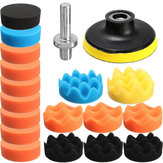 Drillpro 19PCS 80mm flache Schwamm Buff Polieren Pad Polieren Pad Kit Set