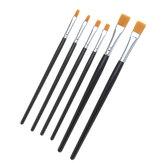 2pcs modèle couleur stylo outils de peinture à la main brosse plate pour pigments de peinture à l'huile