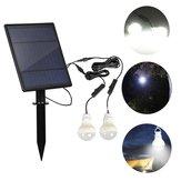 Solar Panel 2pcs LED Birne Satz Wasserdichter Lichtsensor Outdoor Camping Zelt Angeln Notfalllampe