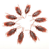 10pcs Prank Funny Trick Joke Brinquedos Lifelike Model Simulation Fake Cockroach Toys Kids Children Props