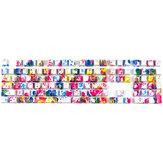 108 Tasten Graffiti Tastenkappen-Set OEM-Profil ABS Transluzente Tastenkappen für 61/87/104/108 Tasten mechanische Tastaturen