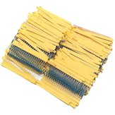 2600Pcs 130 Values 1/4W 0.25W 1% Metal Film Resistors Assorted Pack Kit Set