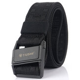 TUSHI Punch Free Magnetic Buckle Tactical Belt Nylon Webbing Quick-Release Belt Fishing Hunting