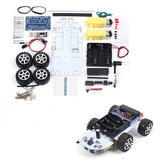 C51 DC 6V Intelligent Tracking Obstacle Car DIY Kit with Two Single Axis Gear Motor Drives