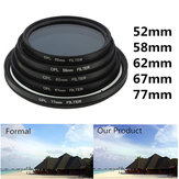 52mm-77mm Phot رقمي Slim CPL Circular Polarizer Polarizing Polarizing Polarizing Lens Filter Canon Nikon Sony