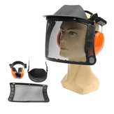 Safety Helmet Hat for Chain Saw Brush Cutter Full Face Protector Mask