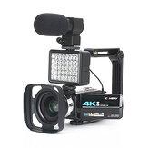 KOMERY AF2 48M 4K Videocamera voor Vloggen Live Camcorder NightShot Anti-shake Camcorder WIFI APP Controle DV Video-opname met Microfoon Lens Lichtstabilisator