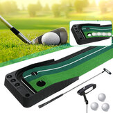 3M Golf Putting Mat + Putter + 3 Stück Golfball Golf Putter Trainer Ball Rückgabewerkzeuge Golf Fairway
