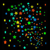 25Pcs Fluorescent Glow Star Wall Sticker Glowing S M L Colorful Star Wall Decals Home Wall Decor