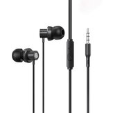 Lenovo Thinkplus TW13 Wired Earphone Noise Reduction Stereo Bass Earbuds 3.5mm Jack HD Call Headphones with Microphone