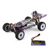 Wltoys 124019 RTR ترقية 7.4 فولت 2600 مللي أمبير 2.4 جيجا 4WD 60 كيلومتر / الساعة هيكل معدني RC نماذج سيارات سيارات اللعب
