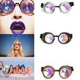BIKIGHT Outdoor Festivals Caleidoscópio Óculos para Raves - Prism Diffraction Crystal Lenses