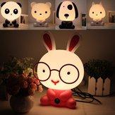 Adorável bebê criança quarto mesa luz noturna Cachorro urso coelho Panda lâmpada cartoon 220V