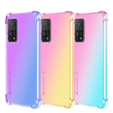 Bakeey for Xiaomi Mi 10T/10T Pro Case Gradient Color with Four-Corner Airbags Shockproof Translucent Soft TPU Protective Case | Non-original