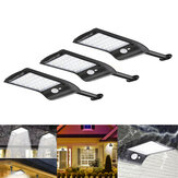 3pcs Solar Powered 36 LED PIR Motion Sensor Impermeable Wall Street Light Wall Lámpara para al aire libre Garden