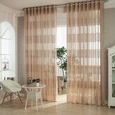 2 Panel European Style Jacquard Breathable Voile Sheer Curtains Bedroom Living Room Window Screening