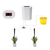 Automatic Drip/Sprinkle Irrigation System Kit Watering Timer Rechargable Battery