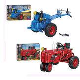 Modèle de voiture de tracteur de marche classique Assemblée de bricolage Blocs de construction Jouets pour enfants Éducatifs