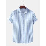 Chemises décontractées à manches courtes respirantes Pocket Pocket pour hommes